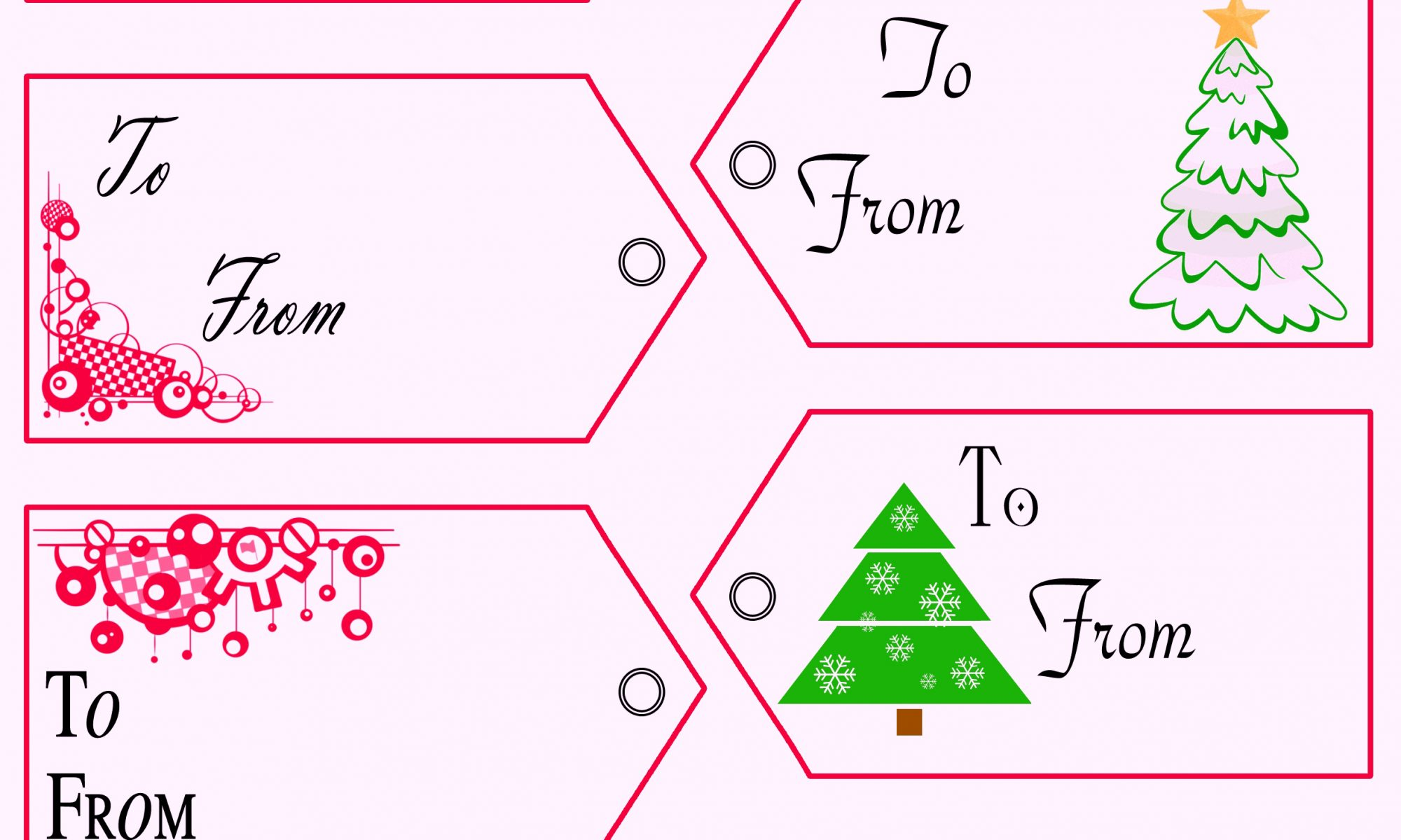 Free Printable Christmas Tags Templates | Gift Tags Template ...