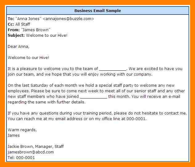 business email example